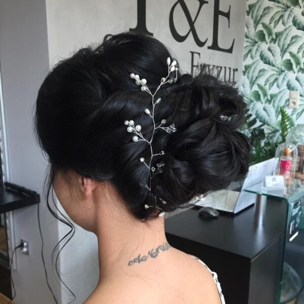 peinados para bodas media melena