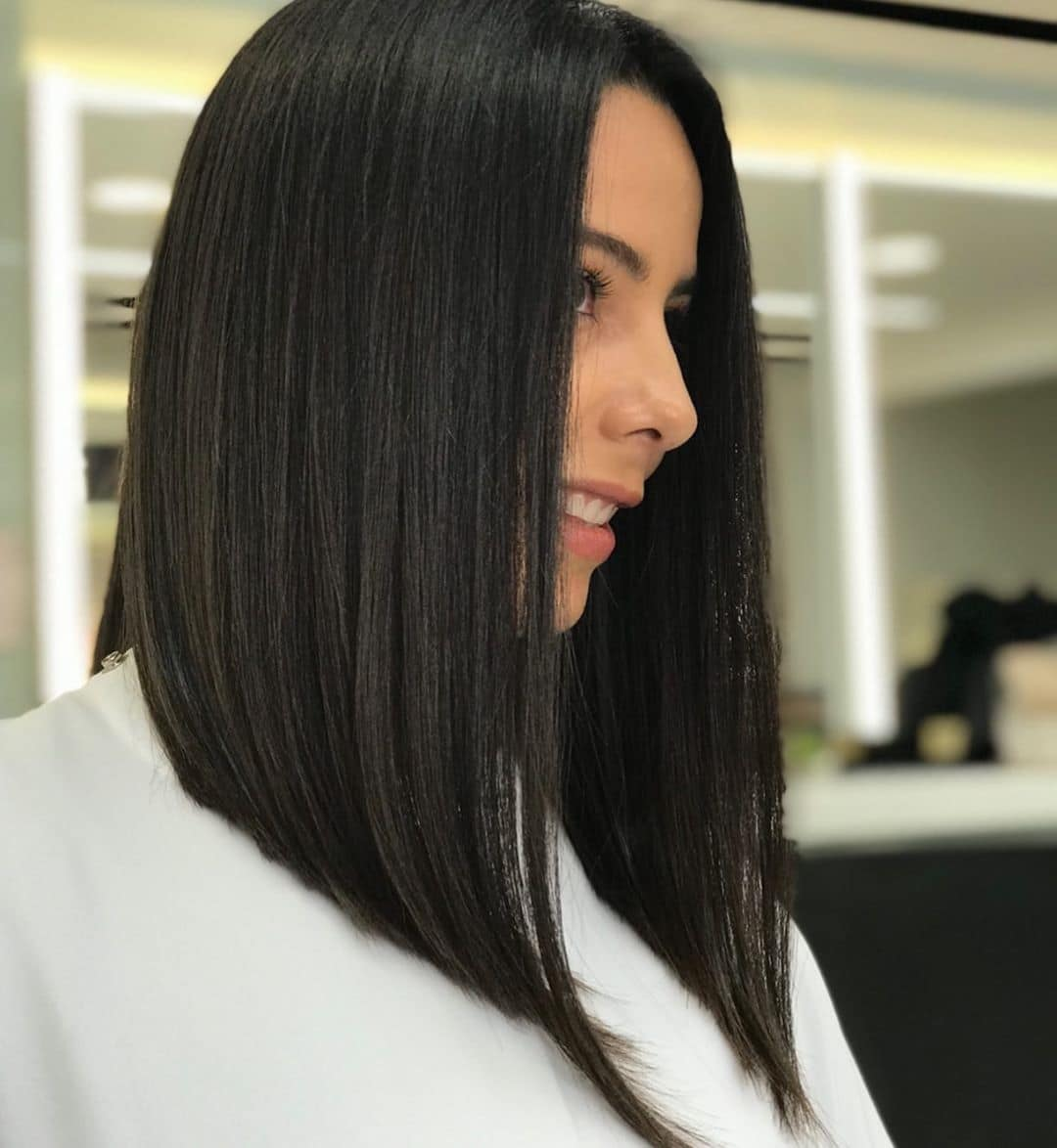 asymmetrical long bob