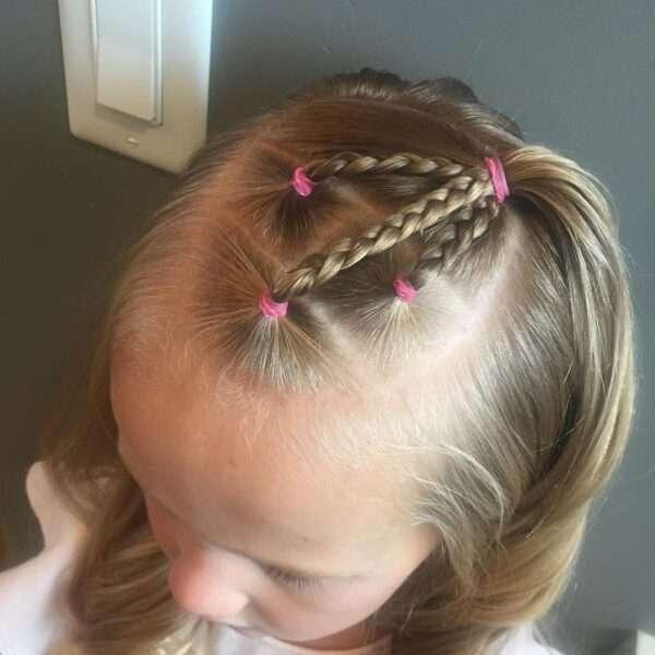 fryzury dla dziewczynek krótkie włosy