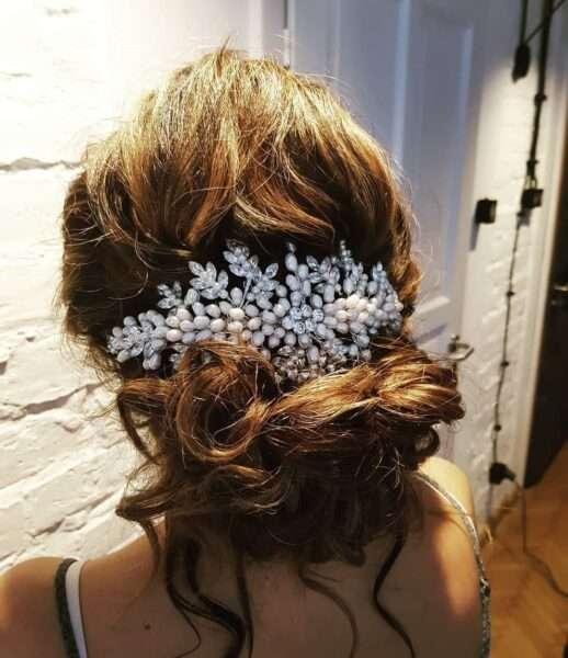peinados melena corta para boda