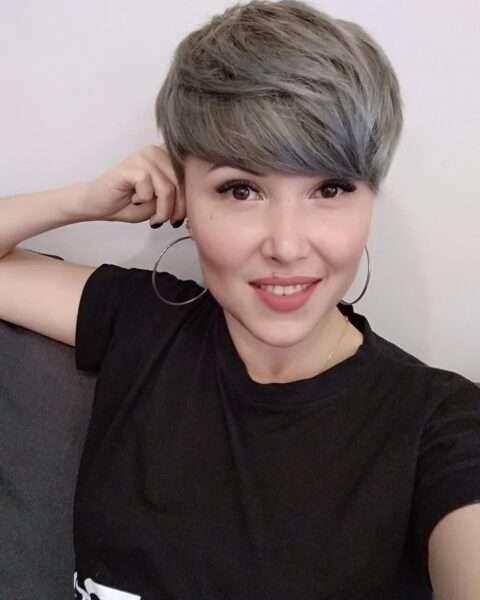 pixie cut dla osób zdelikatnymi włosami