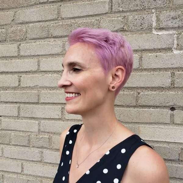 fryzura typu pixie