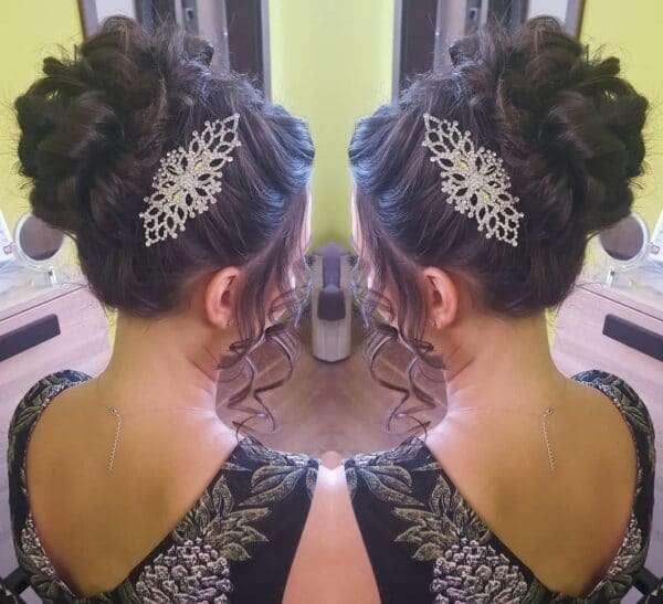 peinados de boda media melena