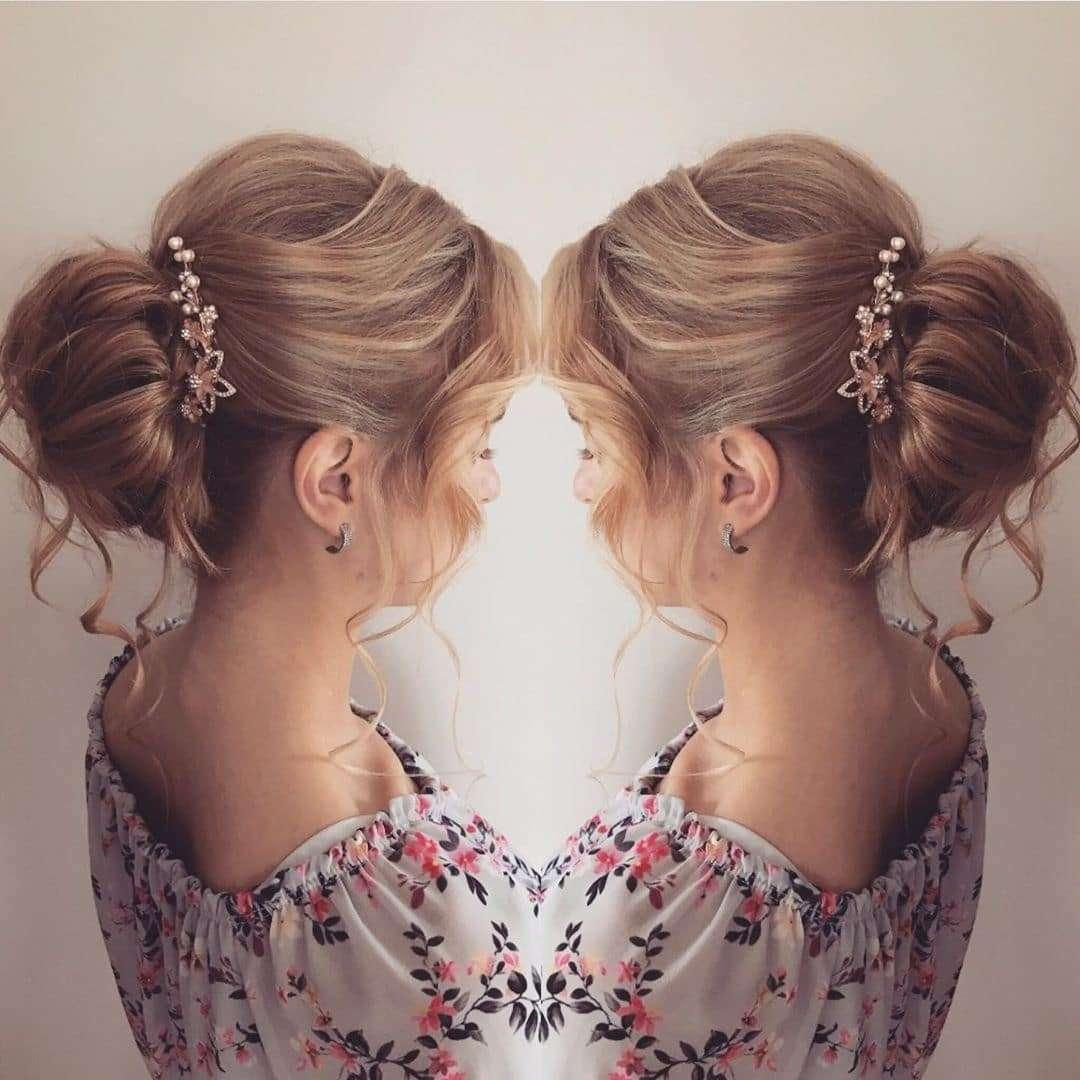 fryzury na wesele włosy do ramion