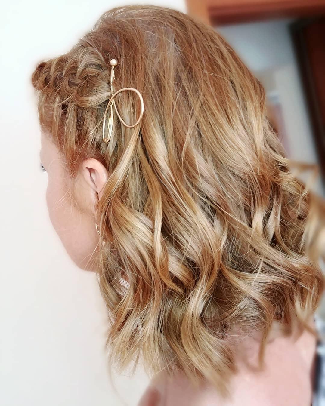 krótkie fryzury na wesele
