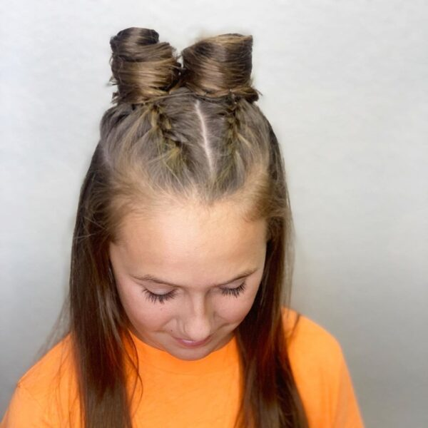 szalone fryzury dla dziewczynek