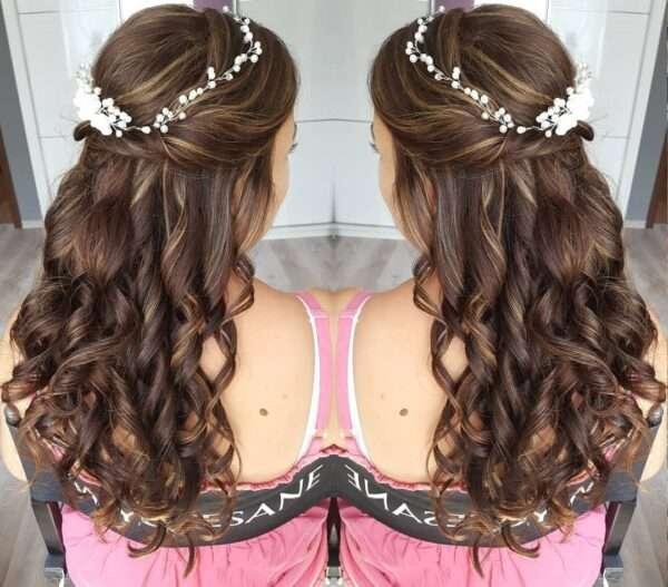 peinados con diadema para invitada boda