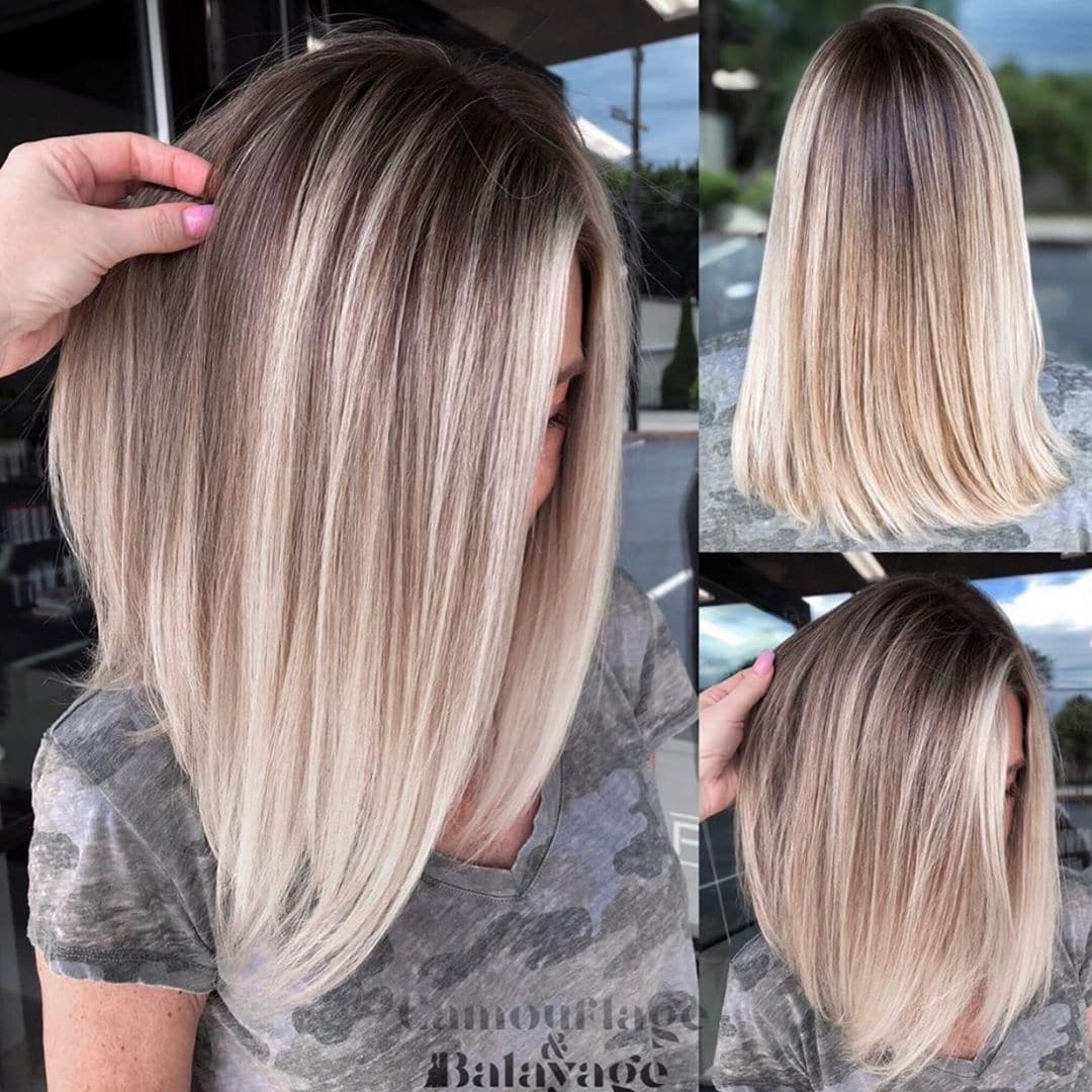 ombre blond bob