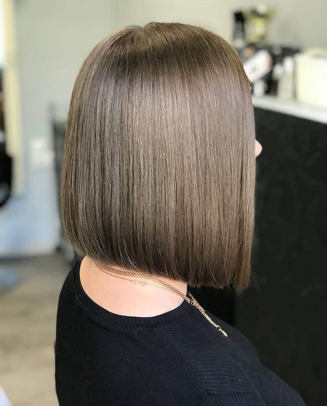 fryzury bob dla okrągłej twarzy
