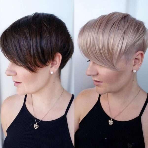 fryzury wyszczuplające optycznie twarz