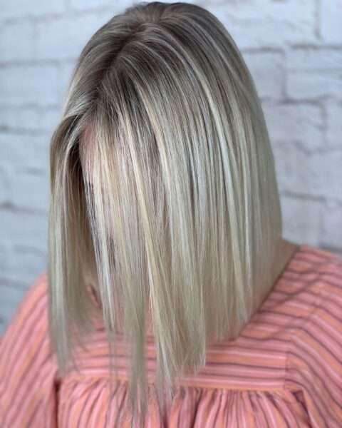 włosy do ramion proste