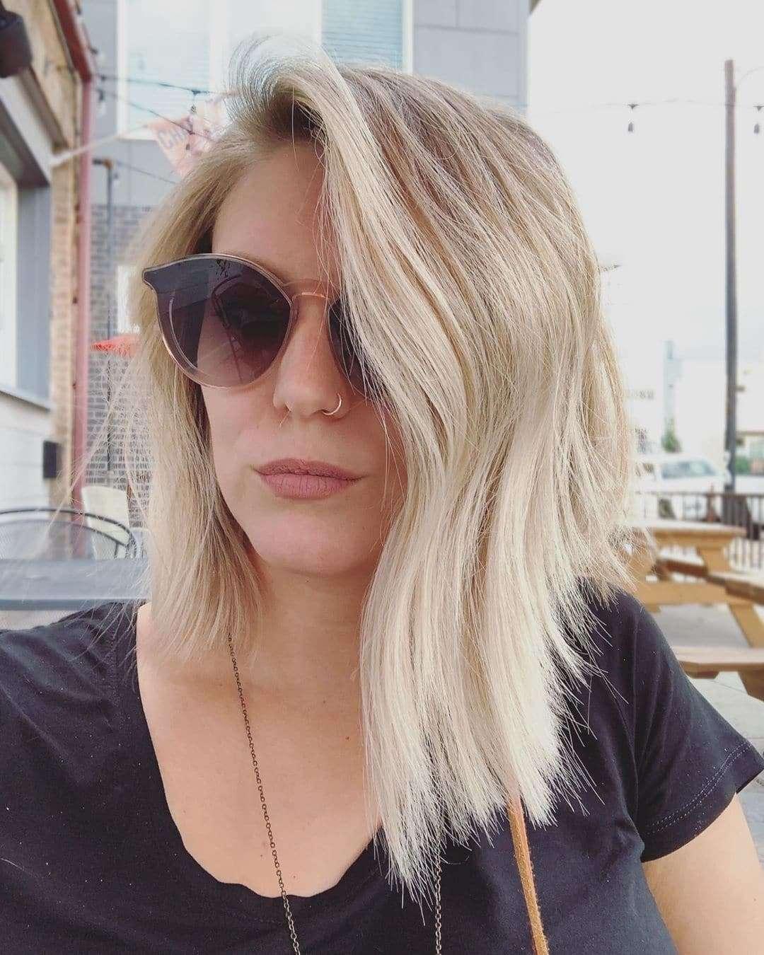 fryzury dla okrągłej twarzy 2019