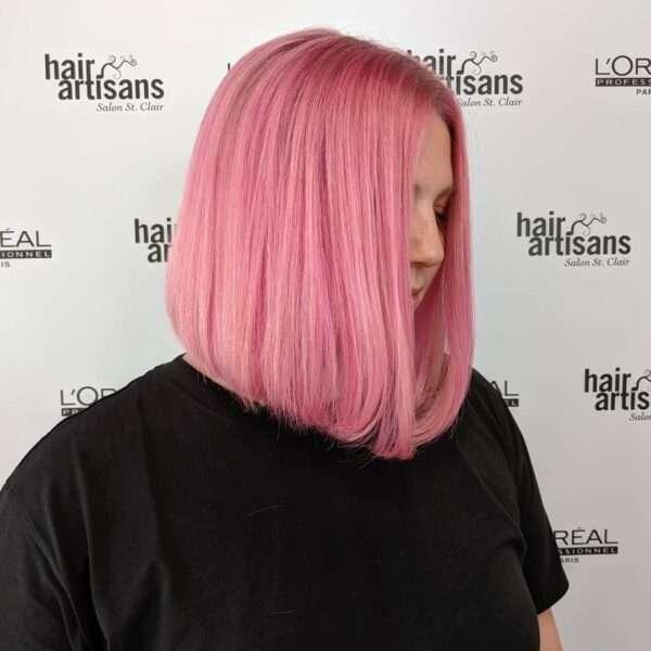 różowa koloryzacja