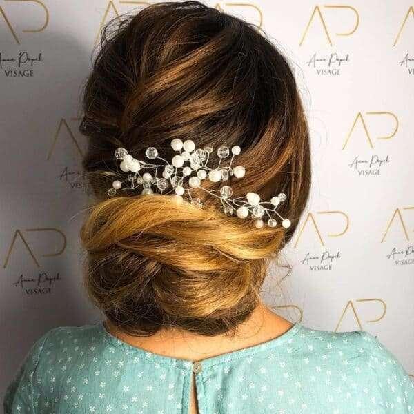 peinados para ir de boda media melena