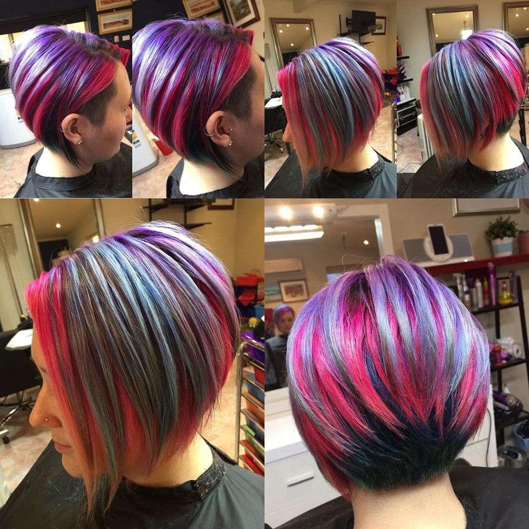 fryzury damskie krotkie z grzywka na bok