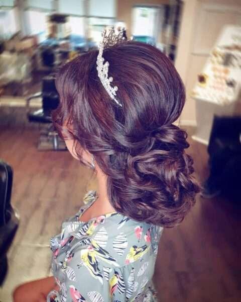 peinado media melena boda