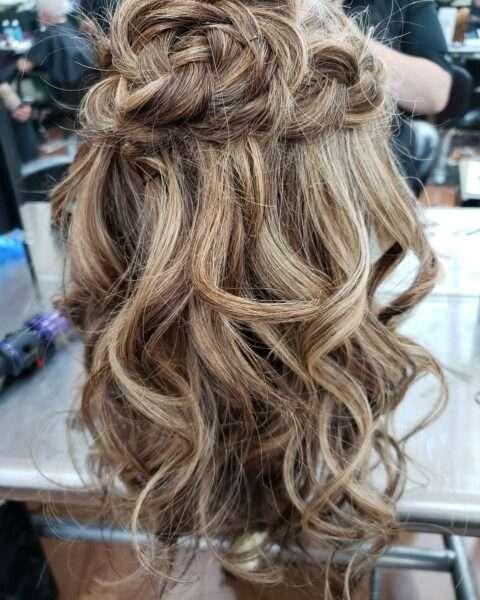 peinado boda media melena