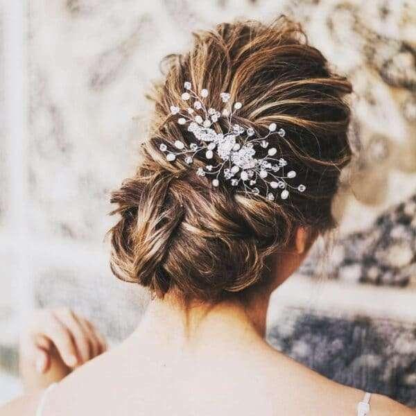 peinados para boda pelo media melena