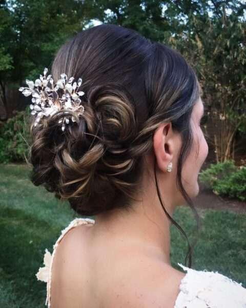 peinado para boda pelo corto