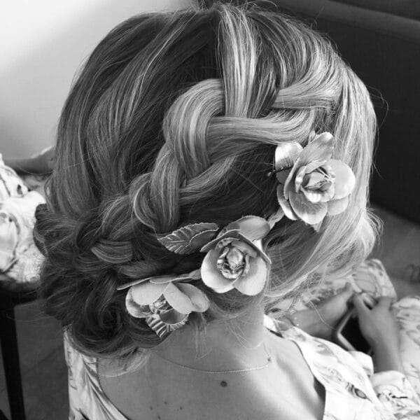 peinados media melena para ir de boda