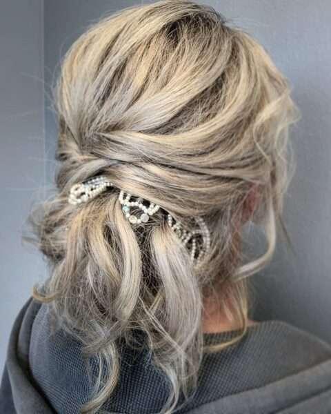 peinados de boda para invitadas media melena