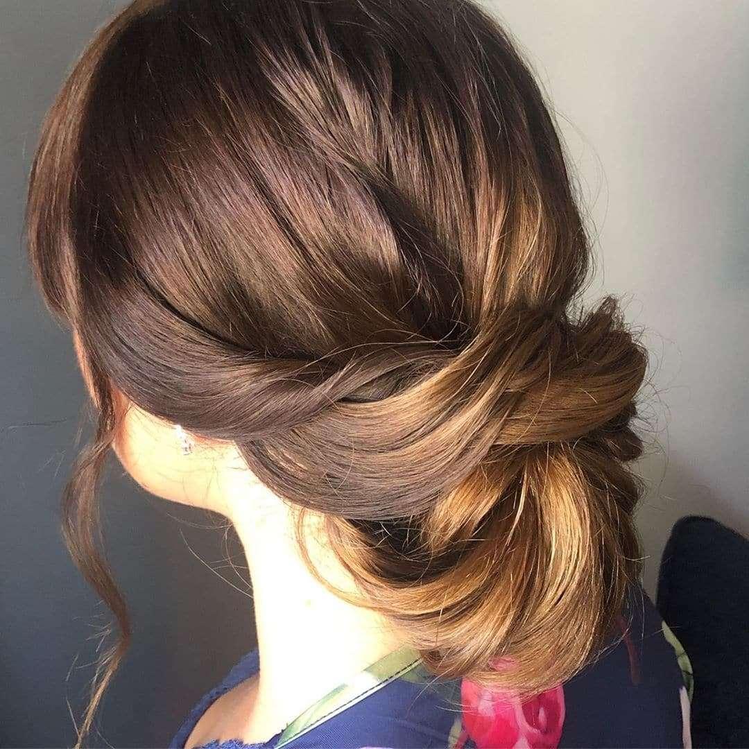 Gładka i prosta fryzura