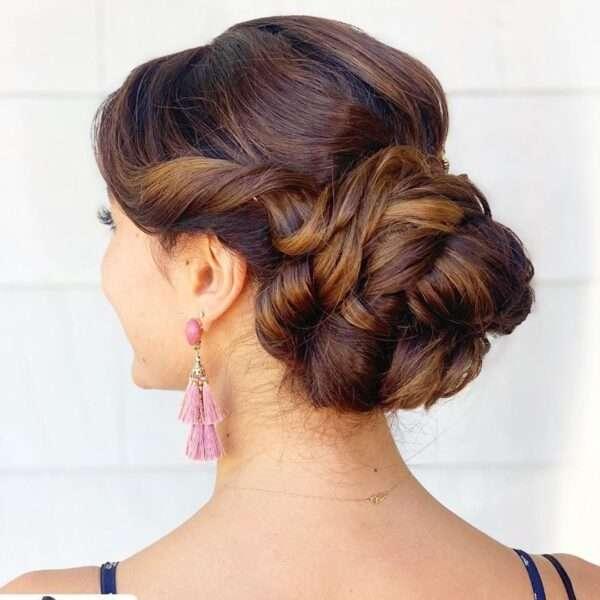 peinados faciles media melena boda