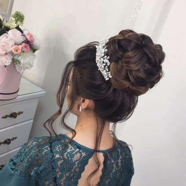peinados boda pelo media melena