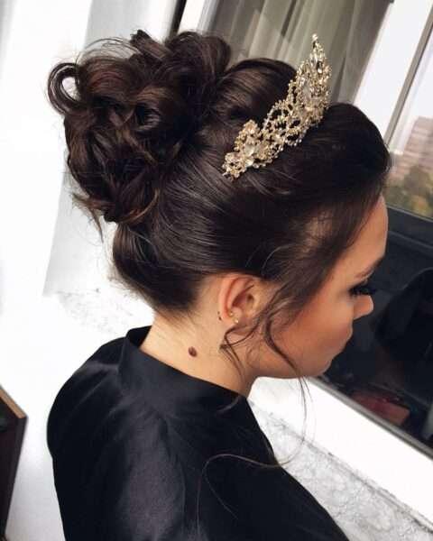 peinados para boda con media melena