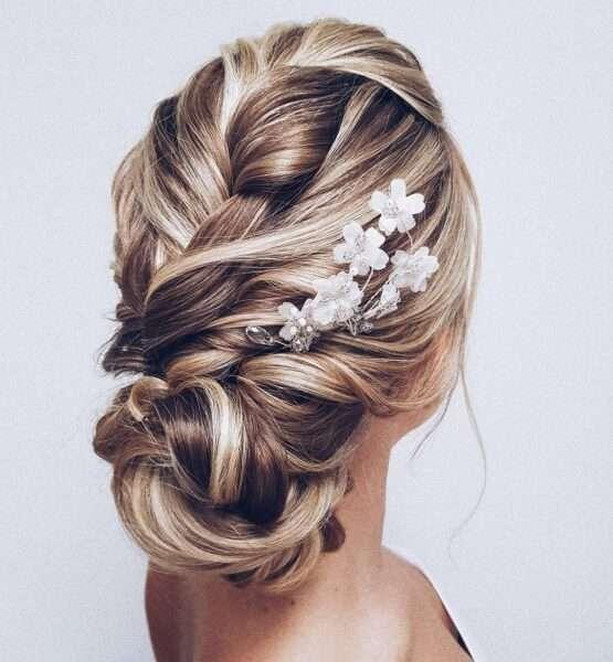 peinados faciles para boda media melena