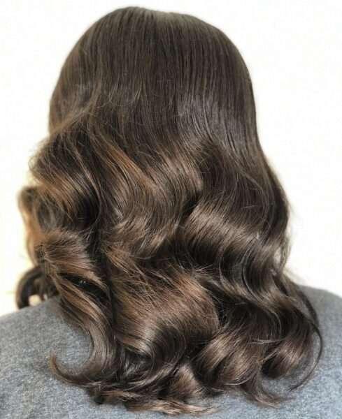 peinados media melena para boda