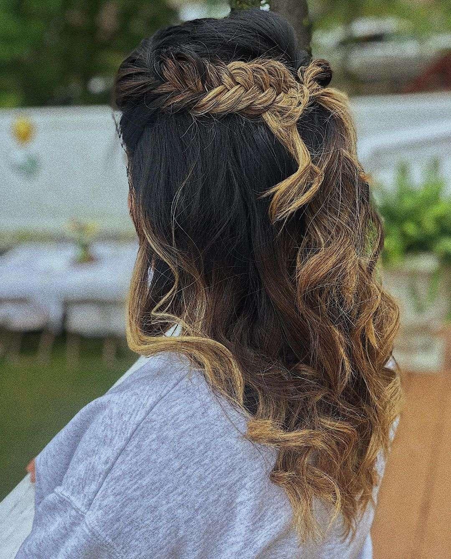 fryzura na wesele loki warkocz