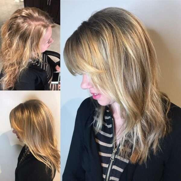 balayage marrón para cabello grueso