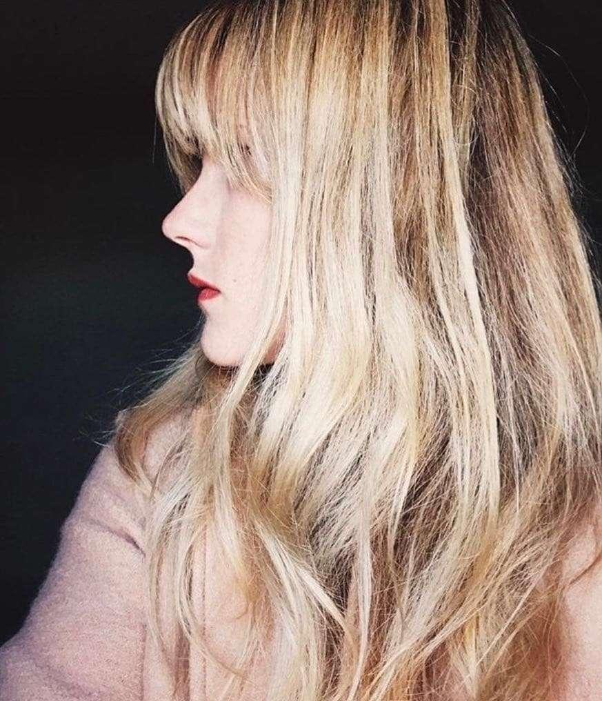 długie włosy z grzywką 2018