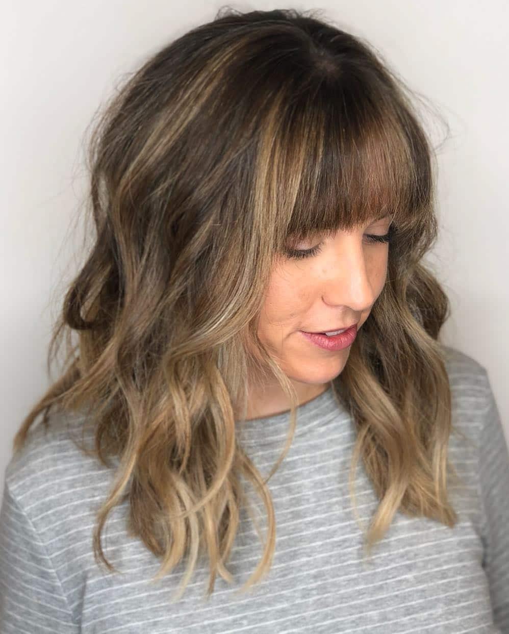 włosy z grzywką