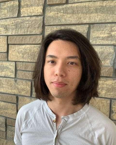 męskie fryzury długie