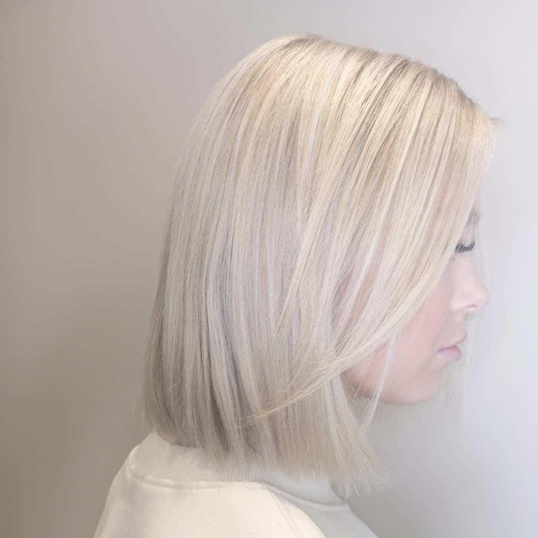 krótkie blond fryzury 2019
