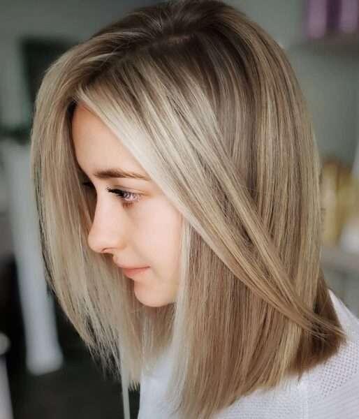 krótkie fryzury blond bob