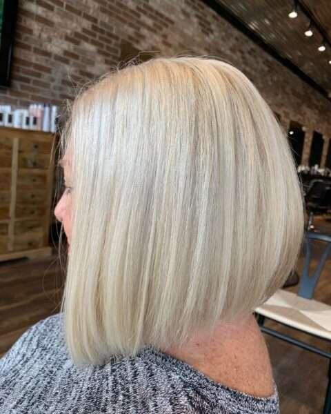 krótkie fryzury blond
