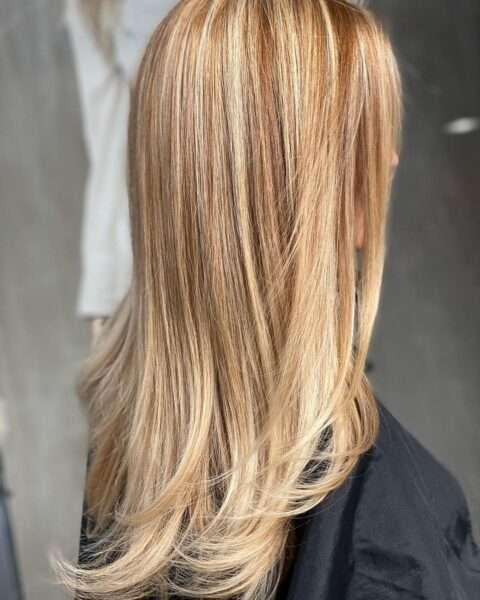 красивая стрижка на длинные волосы