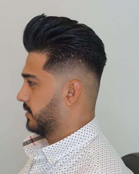 fryzura męska długie włosy