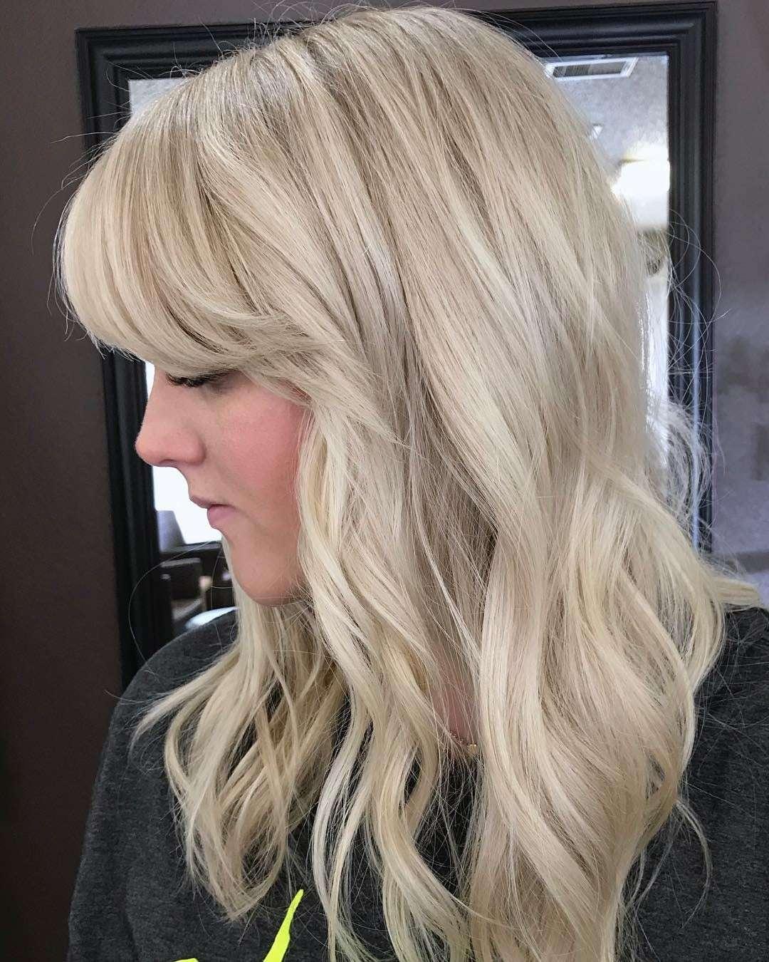 fryzury półdługie z grzywką