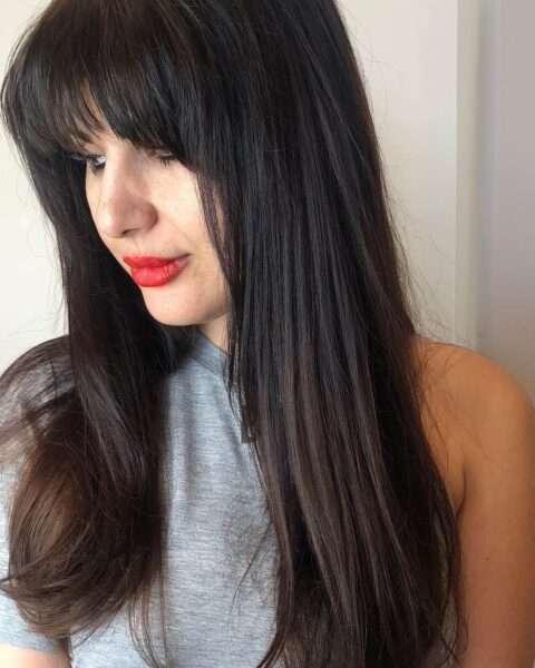 стрижки с челкой на длинные волосы