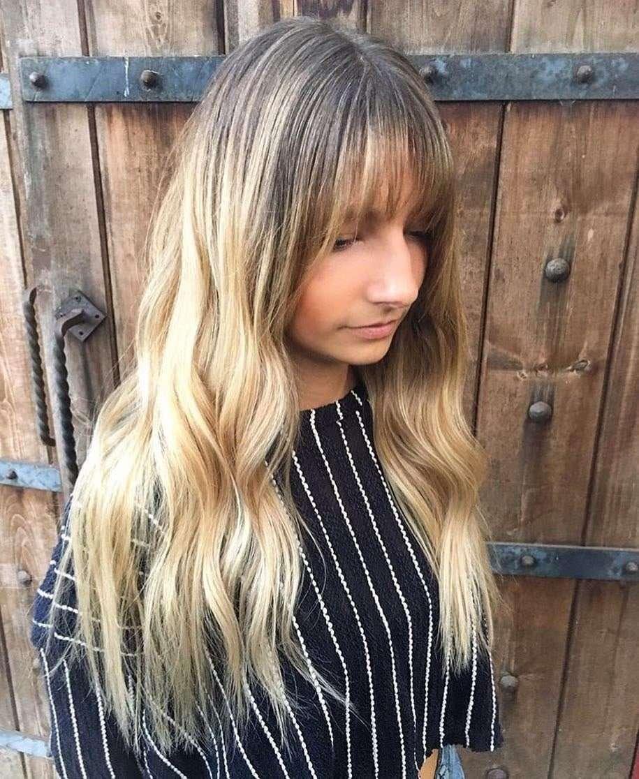 fryzury na włosy półdługie z grzywką