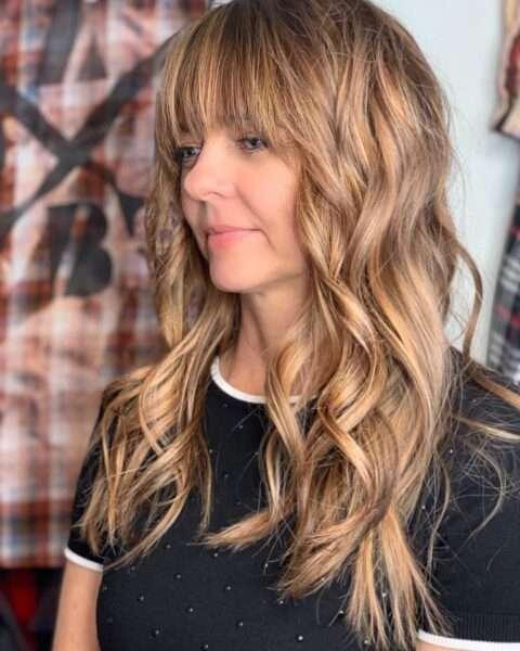 стрижки на длинные волосы с челкой