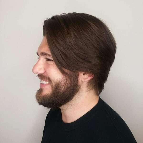 dlugie meskie fryzury