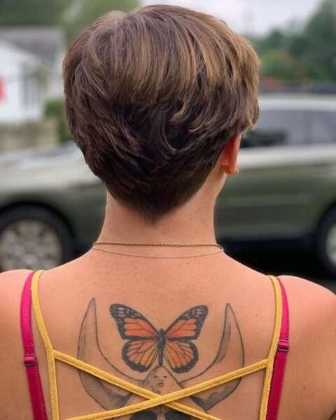 Krótka cieniowana fryzura
