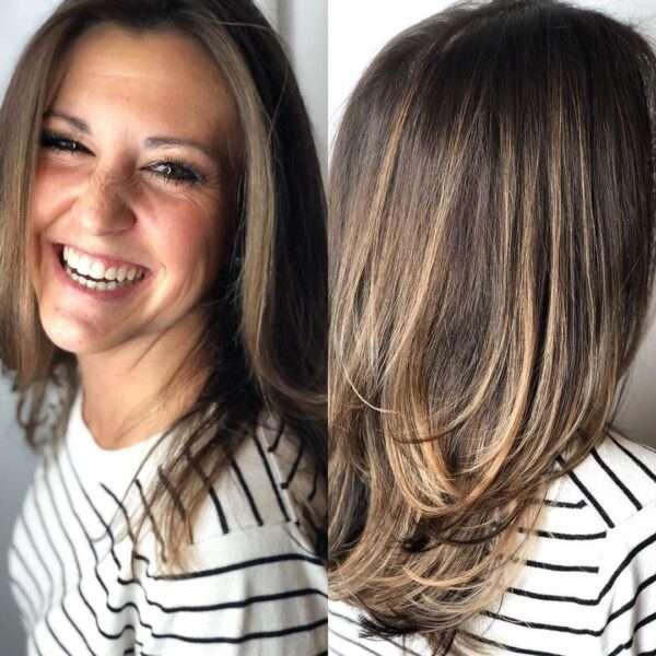 Teksturowane cięcie dla gęstych włosów