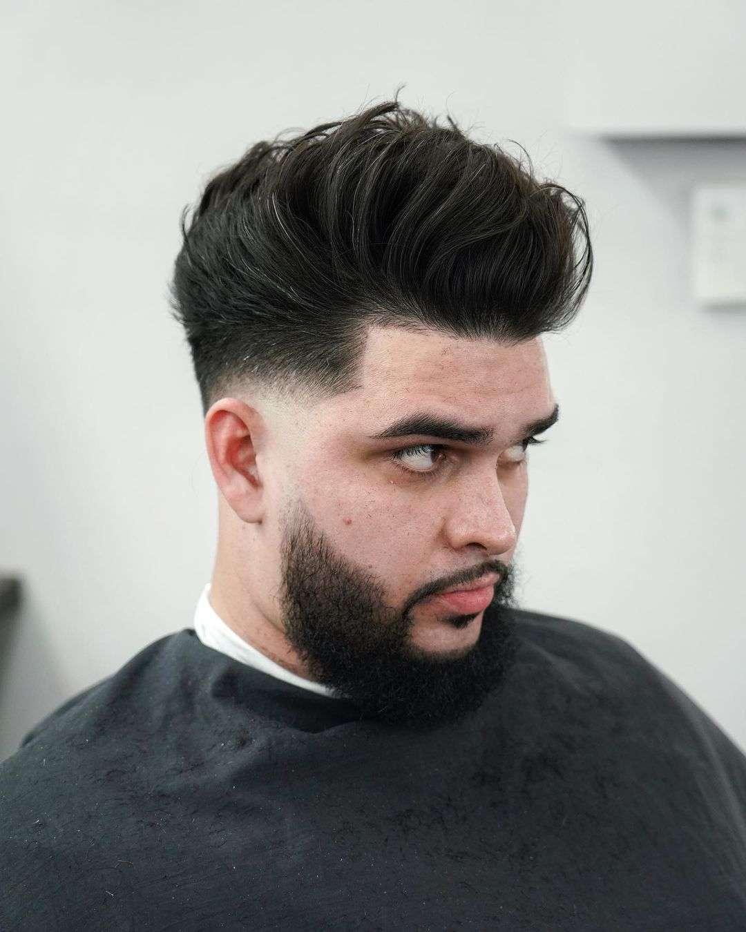 fryzura męska długa góra krótkie boki