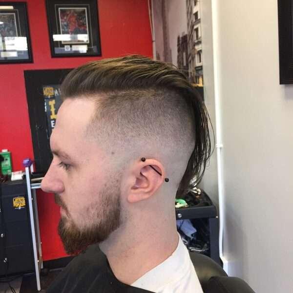 fryzura męska góra długa boki krótkie